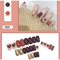 Bộ 24 móng tay giả nail thời trang như hình (Y041)