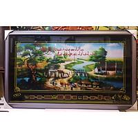 TRANH ĐÈN LỊCH VẠN NIÊN - PHONG CẢNH LÀNG QUÊ ( QUÊ HƯƠNG) KHỔ 58*98cm