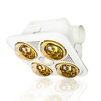 Đèn sưởi nhà tắm Braun Kohn 4 bóng âm trần BU04GR có điều khiển - Hàng chính hãng