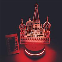 Kremlin, Đèn 3D led, Đèn ngủ thay đổi 16 màu