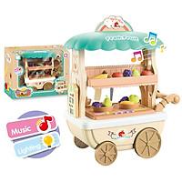 Đồ chơi bán hàng đồ ăn kèm xe đẩy KAVY có âm thanh và ánh sáng, thích hợp cho bé gái