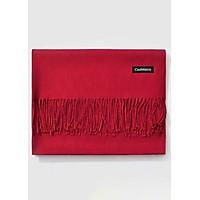 Khăn Choàng Cổ Len Dạ Màu Đỏ Trơn - Cashmere - 200x60cm - Mã KC082