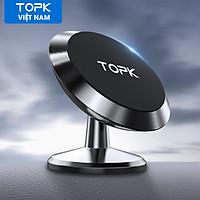 Giá nam châm gắn điện thoại trên ô tô TOPK D07 giá đỡ điện thoại thông dụng có GPS dùng cho Xiaomi iPhone Samsung Realme - INTL - Hàng chính hãng