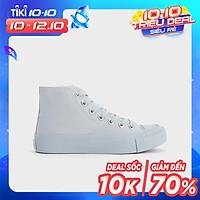 Giày Thể Thao Nữ Sneaker Cao Cấp Trơn Cổ Cao 3P - 09 - GSK377