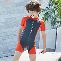 Bộ bơi liền cộc chì đỏ cho bé từ 1 đến 6 tuổi.