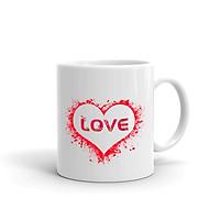 Cốc Sứ Cao Cấp In Hình Love Heart - MS ACATU003 – Màu Trắng Cao Cấp