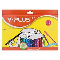 Hộp Bút Lông Màu Tô 24 Màu Elephant Yplus Y PLUS+ YP_FP170200_ELP