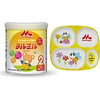 Combo 1 Lon Sữa Morinaga Số 2 Chilmil 320gr + 1 Dĩa Đựng Thức Ăn 4 Ngăn Cho Bé