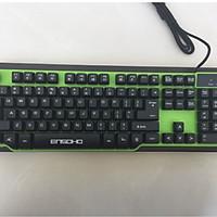 Bàn phím giả cơ có dây ENSOHO E-G121KG ( ko led, nền màu xanh, keycap màu đen )_ HÀNG CHÍNH HÃNG