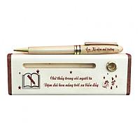 Hộp bút gỗ cao cấp chủ đề Thầy Cô (Có Bút) - WG5