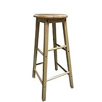 Ghế đôn, ghế quầy bar, ghế cafe gỗ cao su cao 80cm, chân vuông 3cm