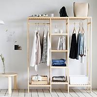 Tủ Giá Treo Quần Áo Gỗ Triple Hanger Nội Thất Kiểu Hàn BEYOURs - Gỗ Tự Nhiên
