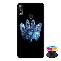Ốp lưng điện thoại Asus Zenfone Max Pro M2 hình Bướm Xanh tặng kèm giá đỡ điện thoại iCase xinh xắn - Hàng chính hãng