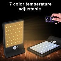 Đèn LED tích điện năng lượng mặt trời, cảm biến chuyển động, cảm ứng ánh sáng (48 bóng led, có điều khiển từ xa)