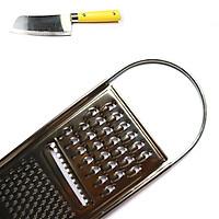 Dụng cụ bào rau củ quả 3 kiểu inox cao cấp tặng dao mini siêu dễ thương BDC01 – Gia dụng bếp