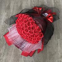 Bó 50 bông hoa hồng sáp thơm cao cấp