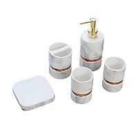 Set lọ đựng nhà tắm WHITE PORCELAIN & COPPER