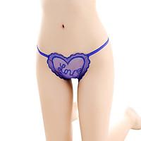 Lady Lace Crotchless Massage Pearl Love Shape Mesh Sexy T Pants Women Underwear
