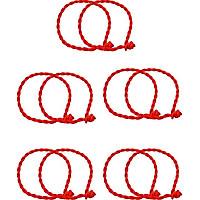 Combo 10 Vòng Đeo Tay Chân Chỉ Đỏ Phong Cách Cho Nam Nữ (Free Size)