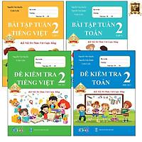 Sách - Combo Bài Tập Tuần và Đề Kiểm Tra lớp 2 - Kết Nối Toán và Tiếng Việt Học kì 1 (4 cuốn)