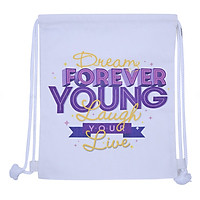 Túi Dây Rút Canvas Cá Chép - Forever Young (35 x 40 cm)