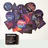 Label sticker hình vũ trụ hộp 40 tấm mini
