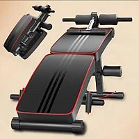 Ghế tập bụng gấp gọn - máy gập cơ bụng đa năng phòng gym dáng cong tập thể dục - lưng -hông