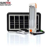 Combo Đèn tích điện SUNTEK KM-7728 + Tấm pin năng lượng mặt trời 6V/3.8W - Hàng chính hãng