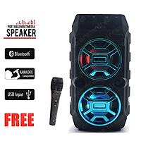 Loa Bluetooth Sừng đôi Loa Kẹo Kéo Kimisio BK019 Có Mic Hát Nhạc Bluetooth, Loa bluetooth, loa kraoke cắm thẻ nhớ, nghe đài FM Siêu Hay - Tặng kèm Mic Karaoke