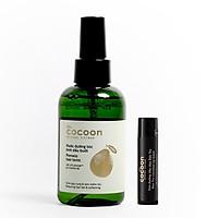 Combo nước xịt dưỡng bưởi Pomelo cocoon 140ml + Son dưỡng môi dầu dừa Bến Tre the cocoon 5g