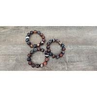 Vòng tay phong thủy Đá mã não sò 14 ly (Đá Myanmar), vòng tay chuỗi hạt đá tự nhiên
