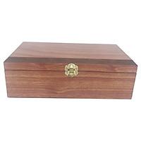 Hộp gỗ dùng để quà  , giúp nâng cao giá trị quà, các cạnh hộp được vát xéo  nhẵn mịn tạo sự thanh mãnh đẹp .[ TẶNG MÓC KHÓA GỖ ] Hộp thích hợp làm quà tặng,bảo quản vật quan trọng