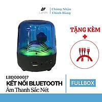 Loa bluetooth Lanith có đèn nháy theo nhạc L17-B trong suốt cao cấp - Tặng dây cáp sạc 3 đầu - Loa bluetooth trong suốt hỗ trợ thẻ nhớ, USB - Hàng chính hãng - LBD00017.CAP0001