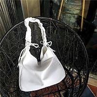 Túi xoắn dây.  đeo chéo,tote đi học hàng Ulzzang, 2 màu Đen Trắng vải Kaki mềm, dây rút điều chỉnh