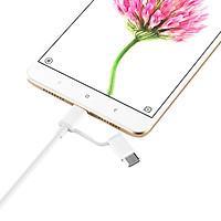 Dây Cáp Sạc Đa Năng 2 Trong 1 USB Type-C / Micro USB Xiaomi (1m) - Hàng Chính Hãng