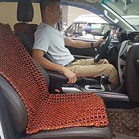 Đệm hạt gỗ Nhãn tự nhiên tựa lưng massage lót ghế ô tô, xe hơi cao cấp kích thước 1,1 x 0,45m