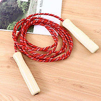 Wooden Handle Skipping Rope Adjustable Skip Rope Competition Fitness Sports Equipment