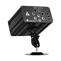 Muslady Stage Aurora Strobe Light 128 Combinations 8 Holes RGBW Sound Activated for Music Show DJ Stage Bar Club Outdoor
