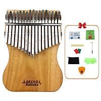 [Khắc Phím] Đàn Kalimba Gecko 17 Phím K17CAP Tone C - Phân Phối Chính Hãng (Gỗ Long Não Mbira Thumb Finger Piano 17 Keys) - Kèm Móng Gảy DreamMaker