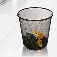 Thùng rác tròn nhỏ gọn dạng đan lưới siêu bền, phù hợp cho văn phòng, khách sạn, nhà ở ,...