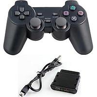 Tay Cầm Chơi Game Không Dây Ew-008 Thích hợp với các trò chơi giải trí như đá PES, game đua xe, đối kháọn bộ sản phẩm gầm 1 tay cầm game, 1 đầu nhận receiver, dây nối USB với PC, đĩa cài