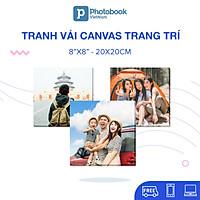 """[E-voucher] In tranh vải canvas theo yêu cầu 8"""" x 8"""" (20 x 20cm) - Thiết kế trên App & Web Photobook"""