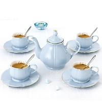 Bộ trà 4 người màu tím 5131T