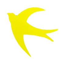 Combo 20 hình chim én vàng xốp dán tường kính kích thước 10x11cm trang trí Tết