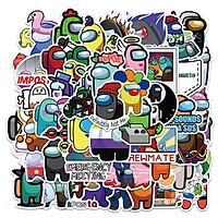 Bộ 50 miếng Sticker hình dán Among Us SetB