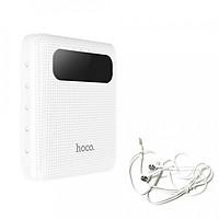 Pin sạc dự phòng 10000 mAh Hoco B20 đầu ra 2 cổng USB tích hợp đèn LED - Tặng tai nghe chính hãng