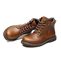 Giày  cao cổ da thật nam phong cách - Mã 12689
