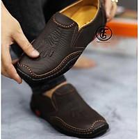 Giày lười nam giày mọi nam da bò thật in vân cá sấu siêu đẹp - GLP1