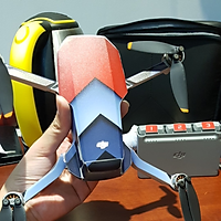 Skin Decal Dán Trang Trí Flycam Dji Mavic Mini 2 - Full Body - Xám Đỏ
