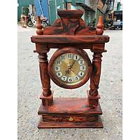 Đồng hồ để bàn gỗ Trắc Ta cực độc đáo